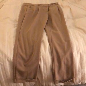 Tan loose khaki color dress  pants